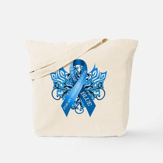 I Wear Blue for my Granddaughter Tote Bag