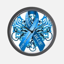 I Wear Blue for my Granddaughter Wall Clock