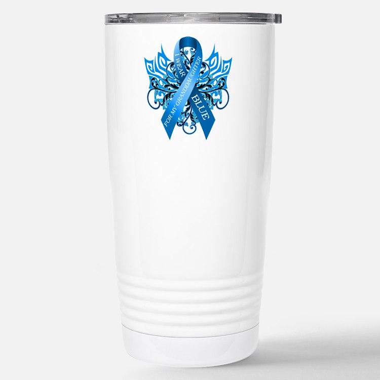 I Wear Blue for my Granddaughter Travel Mug