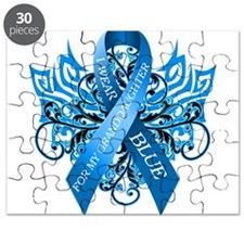 I Wear Blue for my Granddaughter Puzzle