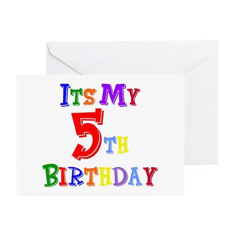 5th Birthday Greeting Cards (Pk of 10)