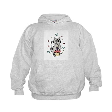 Happy Birthday Kitty Kids Hoodie