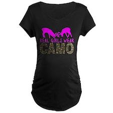 GIRL DEER HUNTER Maternity T-Shirt