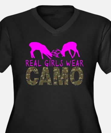 GIRL DEER HUNTER Plus Size T-Shirt