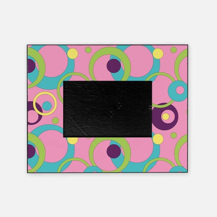 Funky Pink Circles Picture Frame