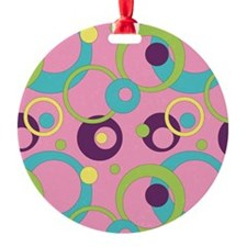 Funky Pink Circles Ornament