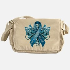 I Wear Blue for my Daughter Messenger Bag