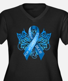 I Wear Blue for my Daughter Plus Size T-Shirt