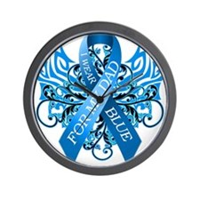 I Wear Blue for my Dad Wall Clock