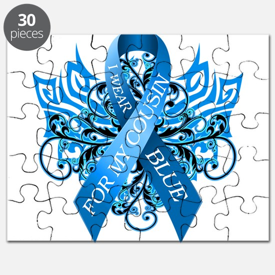 I Wear Blue for my Cousin Puzzle