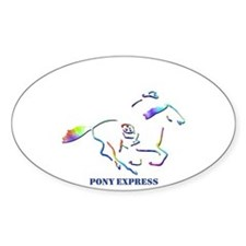 Pony Express Oval Decal