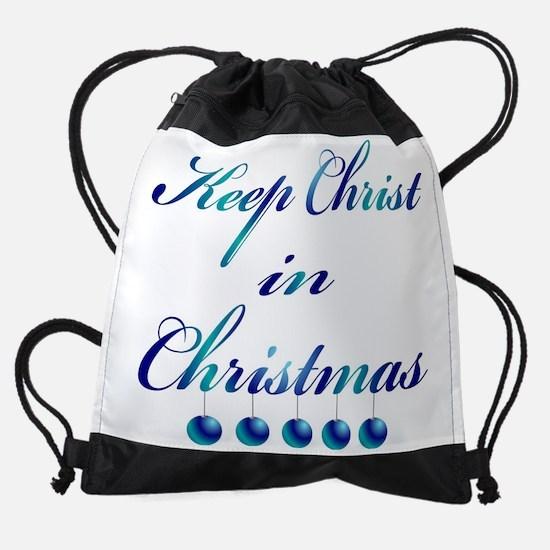 Keep Christ in Christmas Drawstring Bag