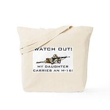 MILITARY DAUGHTER M-16 Tote Bag
