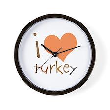 Kids I Love Turkey Wall Clock