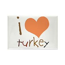 Kids I Love Turkey Rectangle Magnet
