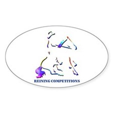 Reining Competitions Oval Decal
