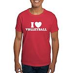 I Love Volleyball Dark T-Shirt