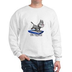 Shit Happens (Cat in Litter Box) Sweatshirt