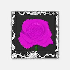 "Purple Flower 2 Square Sticker 3"" x 3"""