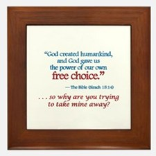 Free Choice -  Framed Tile