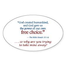 Free Choice - Oval Decal