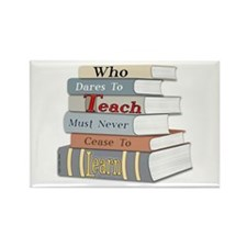 Teach Learn Rectangle Magnet (10 pack)