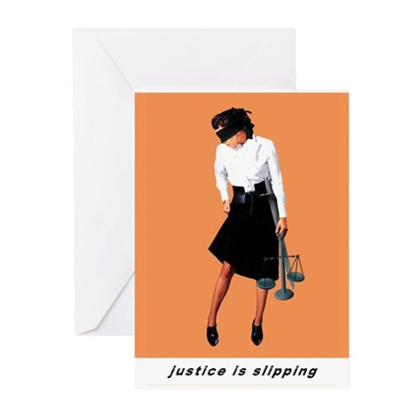 Justice is Slipping Greeting Cards (Pk of 10)