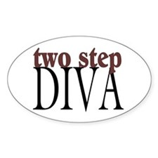 Two Step Diva Oval Decal