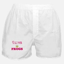 I Love Frogs Boxer Shorts