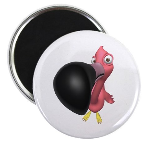 "Flamingo Close Up 2.25"" Magnet (100 pack)"