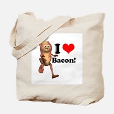 I Heart (Love) Bacon Tote Bag