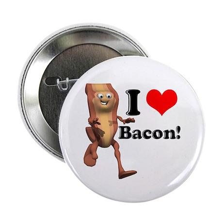 I Heart (Love) Bacon Button