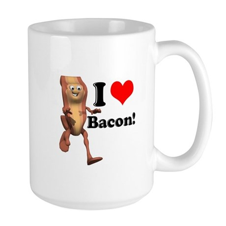 I Heart (Love) Bacon Large Mug