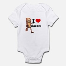 I Heart (Love) Bacon Infant Bodysuit