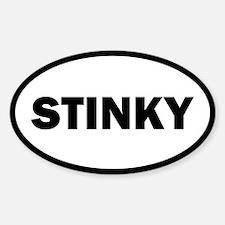 Stinky Oval Decal