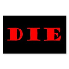 DIE Rectangle Decal