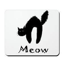Senor Black Cat Mousepad