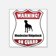 Ridgeback On Guard Rectangle Sticker