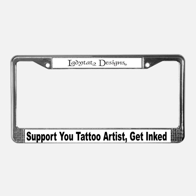 Tattoos licence plate frames tattoos license plate for Tattoo artist license