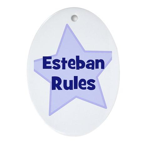 Esteban Rules Oval Ornament