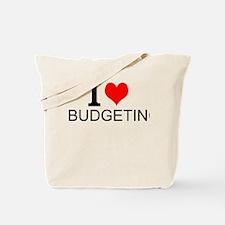 I Love Budgeting Tote Bag
