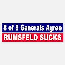 RUMSFELD SUCKS... Bumper Bumper Bumper Sticker