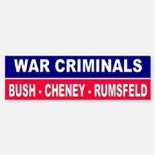 CRIMINALS... Bumper Bumper Bumper Sticker