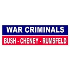 CRIMINALS... Bumper Car Sticker