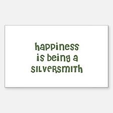 Happiness is being a SILVERSM Sticker (Rectangular