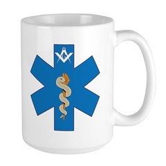 Masonic Fire, Rescue, EMT Large Mug