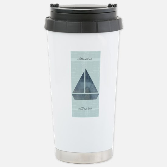 Custom Add Text Sailing Stainless Steel Mugs