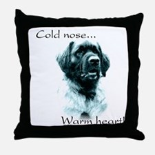 Leonberger Warm Heart Throw Pillow