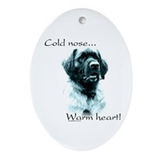 Leonberger Warm Heart Oval Ornament