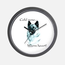 Elkhound Warm Heart Wall Clock